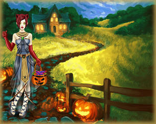 215. Halloween joys - Kitty by Erozja