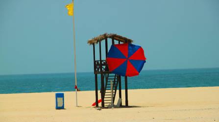 Umbrella Beach by aurorean3311