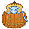 Pumpkin Mew by Gothica-the-Eevee