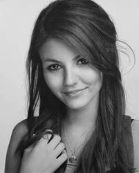 Victoria Justice (Pencil Drawing) by Eddyvl