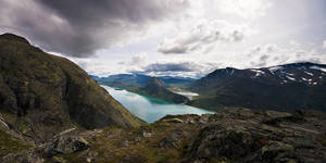 Besseggen Panorama II by calleartmark