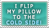 I flip my pillow -stamp- by Sassen