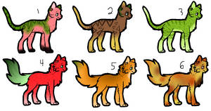 Cheap Cat Fruit Adoptables [OPEN 6/6] by Ragged-Insomnia