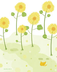 sunflower and fox by xduoi