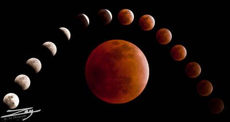 Lunar Eclipse by Jay-Sia
