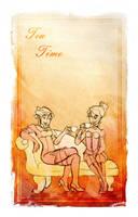 rogue skies: tea time by Elixia-Dragmire
