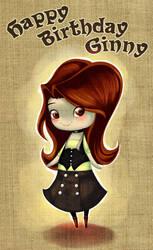 Happy Birthday Ginny by Elixia-Dragmire