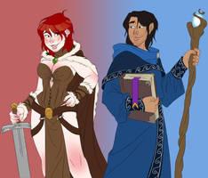 Tyra and Marthin by Elixia-Dragmire