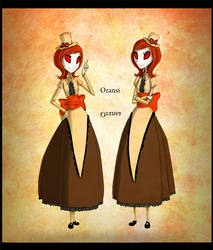 Oransi and Oransa by CottonValent