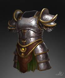 Silver Elf Armor by Elistraie