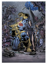 Thanos and mistress Death by KoShiatar