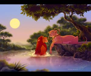 Flowers for the Queen - Simba/Nala for PhoenixHBA by EmilyJayOwens