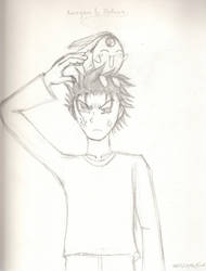 Kurogane and Mokona- Sketch by Kazuki-kunthe-artist