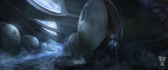 Spaceship Biotanks by M-Wojtala