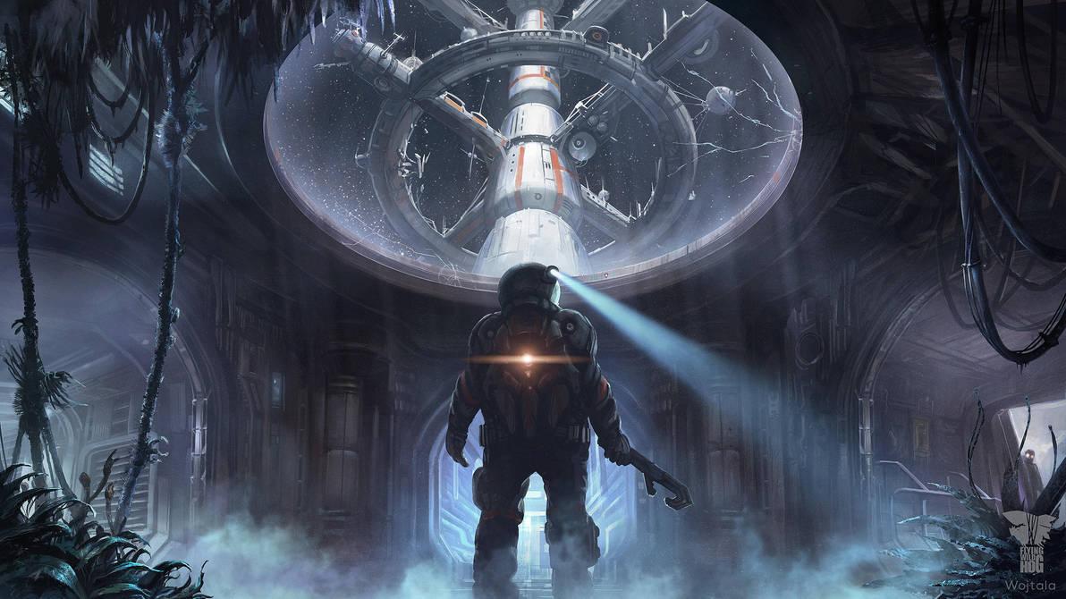 Space Station Exploration by M-Wojtala