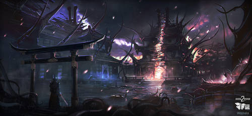Merging with Shadow Realm   Shadow Warrior 2 by M-Wojtala