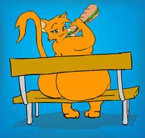 Cat Sandwich by thepasswordis-123456