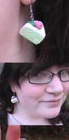 Mint Cake Earrings by UnluckyPrincess