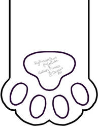 Cat Paw Stocking Pattern by UnluckyPrincess