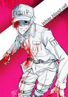 Hataraku saibou- White blood cell by marceline23marshall