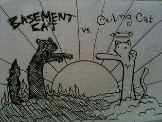 Ceiling Cat vs Basement Cat by NinjaTaf