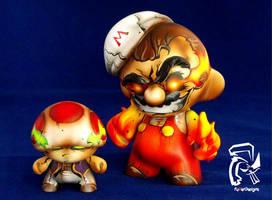 Psycho Super Mario Bros. by FullerDesigns