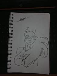 Batgirl - No Color by SoulSuckingGinger