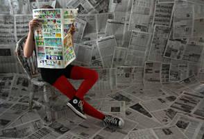 what's in the paper? by Nekopie