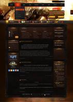 Web Design - Guild Wars 2 by Shizoy