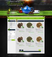Web Design - MsTea by Shizoy