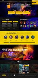 League Of Legends ( Prototype ) - Web Design by Shizoy
