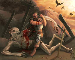Beowulf and Grendel by ndhill