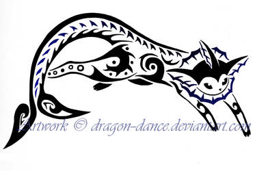 Tribal Vaporeon Tattoo Commission by DansuDragon