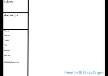 FREE Reference Sheet Base by DansuDragon