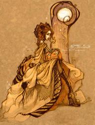 Elegant Halloween -pencil ver. by SpookyChan