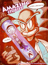 Rick And Morty AMAZING STORIES by SpookyChan