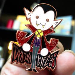 Dracula Lyfe Enamel Pin by SpookyChan