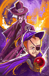 The Pink Pilgrim and Billy Quizboy by SpookyChan