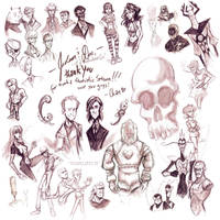 Venture Brothers Cast by SpookyChan