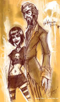 Triana and Dr. Orpheus by SpookyChan