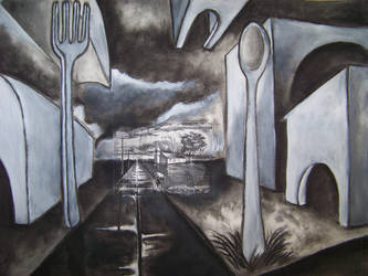 landscape with spoons by Skitterklat