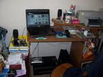 my new desk by Akkai