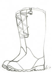 :Sketch commission: Rain Boots by Akkai