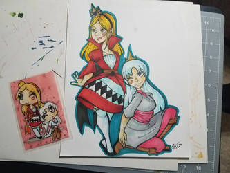 :Draw this again: wonderland sisters 2017 vs 2010? by Akkai
