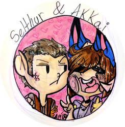 :Personal art: Selthur and Akkai by Akkai