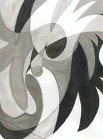 BlackWhite Abstract by kiuuri