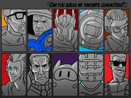 Guess My Favorite Characters by SuperKusoKao