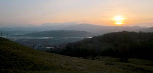 Sunset over Conwy by MakinMagic
