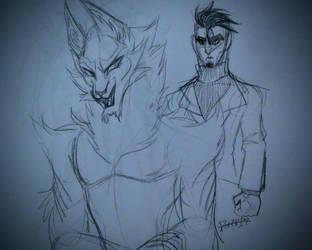 Beast AU by bonetiles