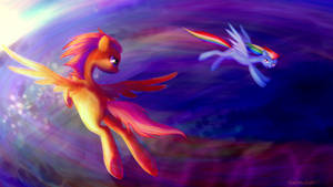 Scotaloo and Rainbow Dash by pondis-dant